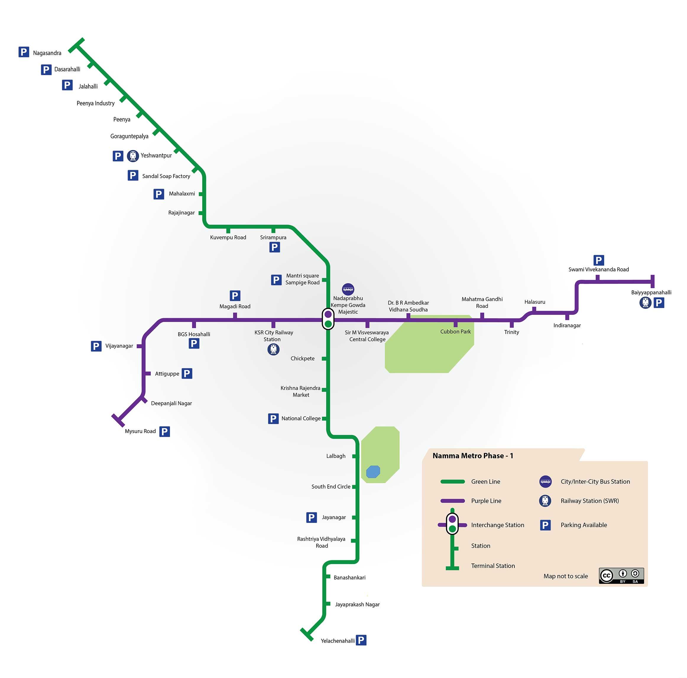 Bangalore Metro Map