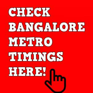 Metro Timings sidebar image